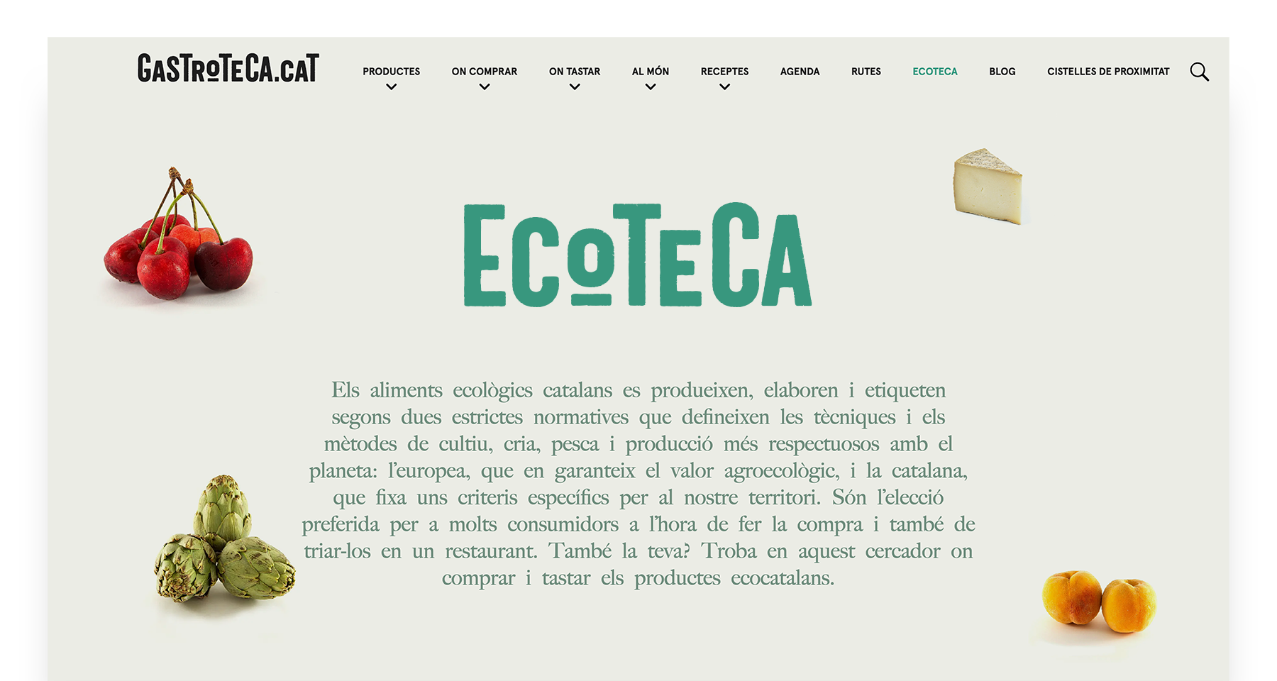 Logotipo y web Ecoteca por monsieur madame